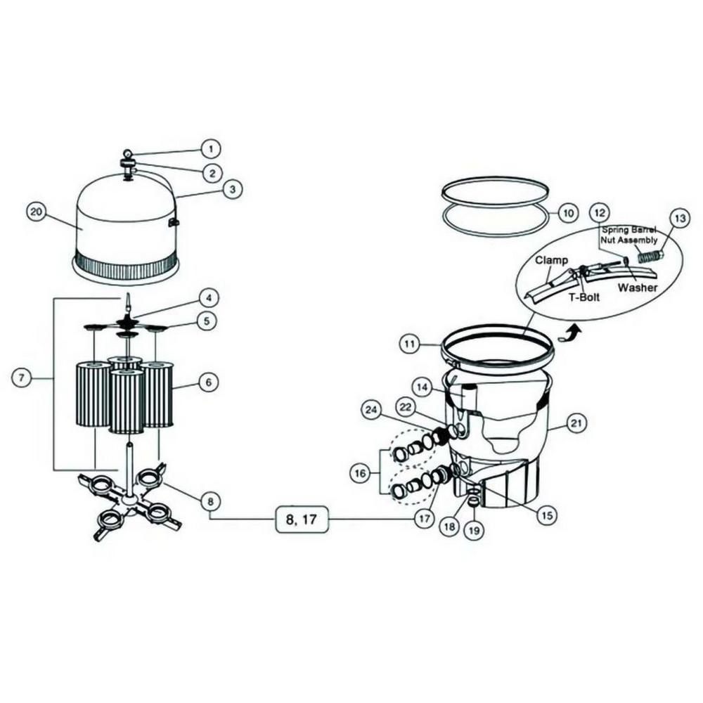Clean & Clear Plus Cartridge Filter Parts image