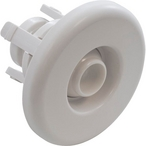 Mini Adjustable Snap-In Spa Jet Eyeball with Smooth Escutcheon Assembly, White