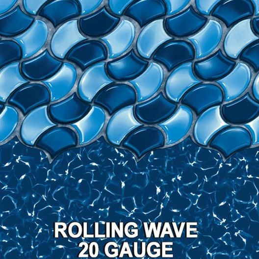 Swimline - Overlap 24' Round 54 in. Depth Boulder Swirl Above Ground Pool Liner, 25 Mil - 404409