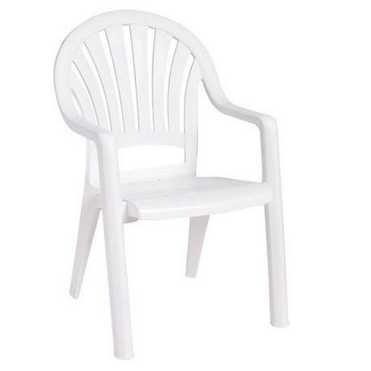 Pacific Fanback Resin Chair, White