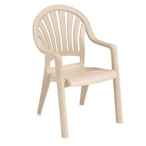 Pacific Fanback Resin Chair, Sandstone