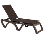 Java Commercial Grade Resin Wicker Chaise