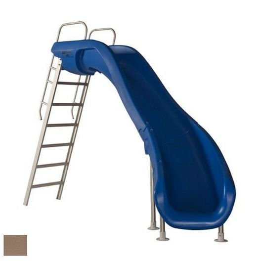 Rogue2 Pool Slide with Left Curve, Taupe