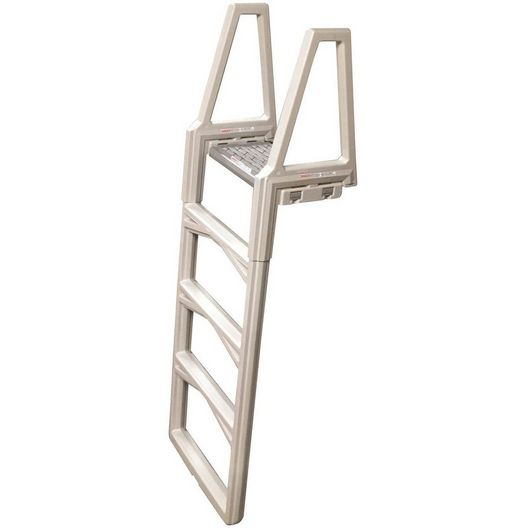 Deluxe In-Pool Ladder for Above Ground Pools, Warm Gray