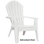 Adirondack Chair - White Resin
