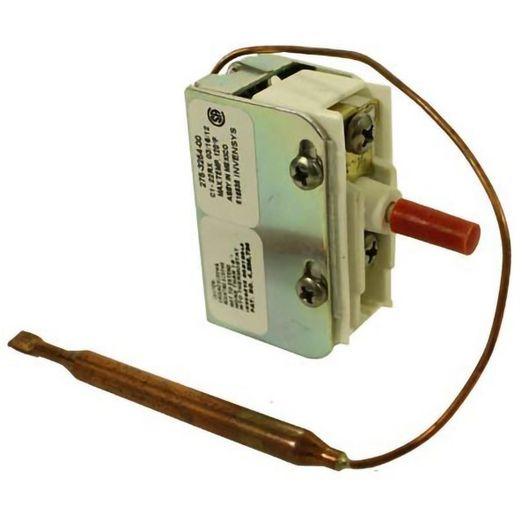 Spa Heater High Limit Manual, 6x1/4 Capillary Bulb, Red Reset Button