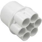 2in. S x (6) 1/2in. S Manifold, White