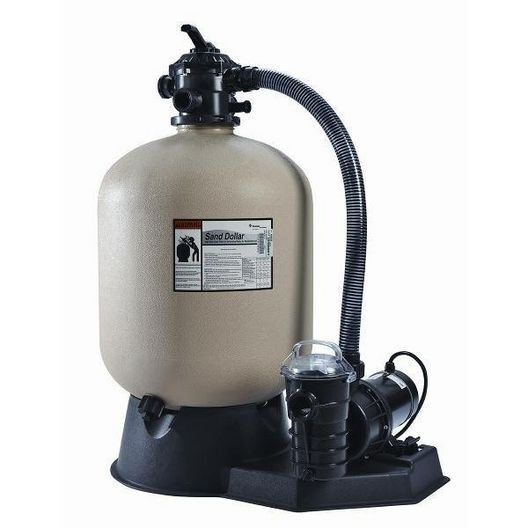 Sand Dollar Above Ground Pool Sand Filter System with 1HP Pool Pump