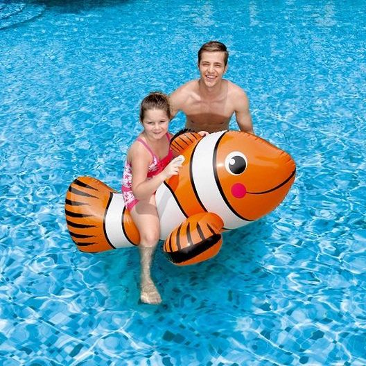 Giant 67 in Inflatable Clown Fish Ride-on Float