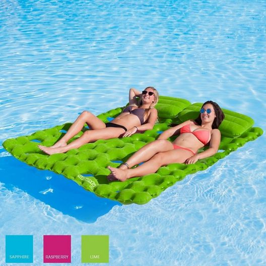 Airhead  Sun Comfort Cool Suede Double Pool Mattress Lime