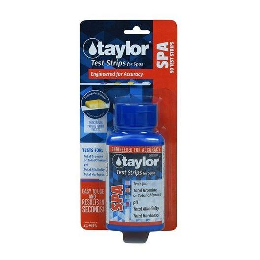 Spa Test Strips for Chlorine/Bromine, pH, Alkalinity, Hardness (50 test strips)