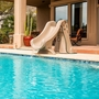 SlideAway Removable Pool Slide, Taupe