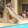 660-209-5820 SlideAway Removable Pool Slide, Gray