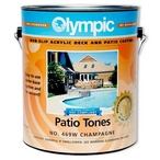 Olympic Patio Tones Patio Paint, 1 Gallon, Champagne