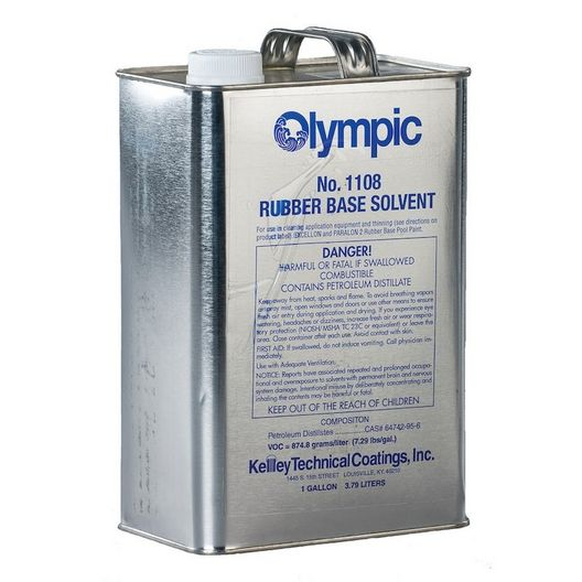Olympic Rubber Base Solvent, 1 Gallon