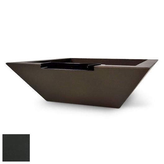 """Corinthian Concrete Fire Bowl 36"""" x 36"""" Sq Charcoal Grey"""
