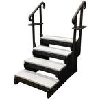 Confer Plastics - Signature Hot Tub Steps, 4-Tread, 36in, Gray - 385523