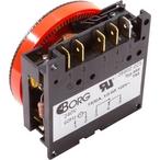 24 hr Spa Timer, SPDT 240V, 5-Term Orange Panel Mount