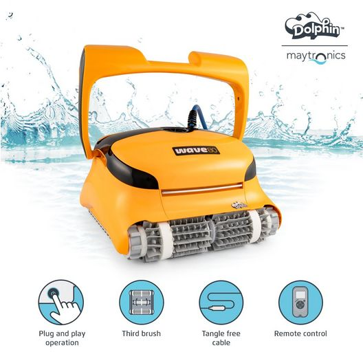 Dolphin - Wave 80 Commercial Robotic Pool Cleaner with Caddy - 385702