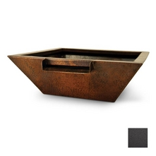 Grand Effects - Premium Metal Corinthian Fire & Water Bowl in Grey Hammertone
