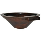 "36"" Essex Manual Concrete Fire & Water One Bowl System, Dark Walnut"