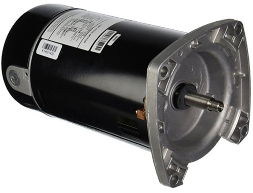 U.S. Motors - Emerson 48Y Square Flange Single Speed 1/2HP Full-Rated Pool and Spa Motor