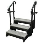 Confer Plastics - Signature Hot Tub Steps, 3-Tread, 36in, Portabello - 386250