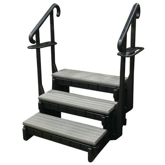 Confer Plastics - Signature Hot Tub Steps, 3-Tread, 36in. - e7cffc9c-c019-4f29-a38e-c68de696d136