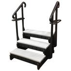 Confer Plastics - Signature Hot Tub Steps, 3-Tread, 36in, Gray - 386251