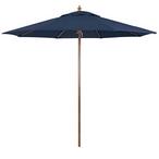9 ft Patio Umbrella with Wood Grain Finish - MASTER-prod1900005