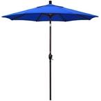 7 1/2 ft Push Button Tilt Patio Umbrella in Sunbrella Fabric - MASTER-prod1900004