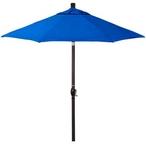9 ft Push Button Tilt Patio Umbrella in Sunbrella Fabric - MASTER-prod1900003