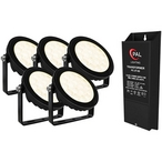 5-pack Warm White Garden Lights, DC 12V, 2-wire, with Transformer