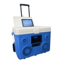 KoolMax 40 Quart Wheeled Cooler Bluetooth Audio and Charging Station - Blue