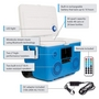 CA-E065A KoolMax 40 Quart Wheeled Cooler Bluetooth Audio and Charging Station - Blue