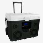 KoolMax 40 Quart Wheeled Cooler Bluetooth Audio and Charging Station -Gray