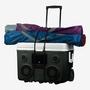 KoolMax 40 Quart Wheeled Cooler Bluetooth Audio and Charging Station -Gray