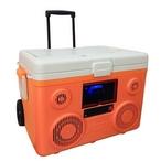 Sondpex - CA-E065O KoolMax 40-Quart Wheeled Cooler Bluetooth Audio and Charging Station - Orange - 386786