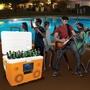 CA-E065O KoolMax 40-Quart Wheeled Cooler Bluetooth Audio and Charging Station - Orange