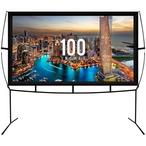 Onix Venture Group - Portable Outdoor/Indoor Projector Screen 100 in. - 386947
