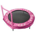 "48"" Bouncer Trampoline Butterfly Pink"