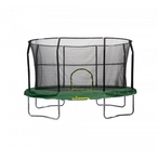 9 ft X 14 ft Oval Trampoline Green