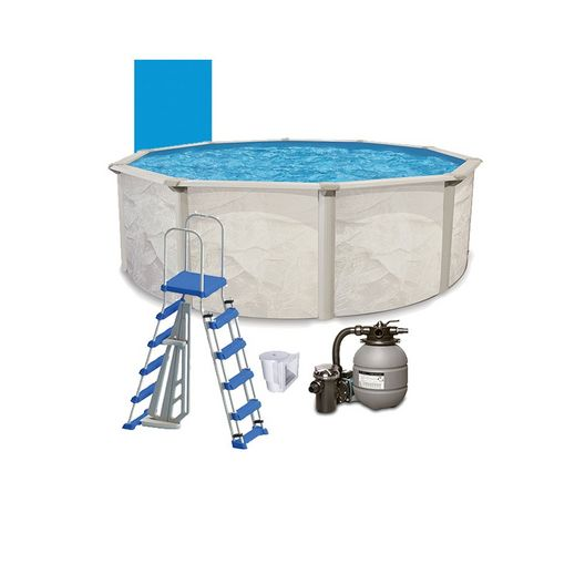 "Resort 18' X 48"" Round Above Ground Pool Package - 387874"