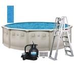 """Weekender Plus 15' X 52"""" Round Above Ground Pool Package - 387880"""
