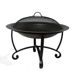 29-in Steel Fire Pit Set with Spark Screen