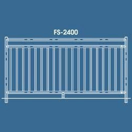 "48"" x 8' 2400 Series Saftron Pool Fence Section, Taupe"
