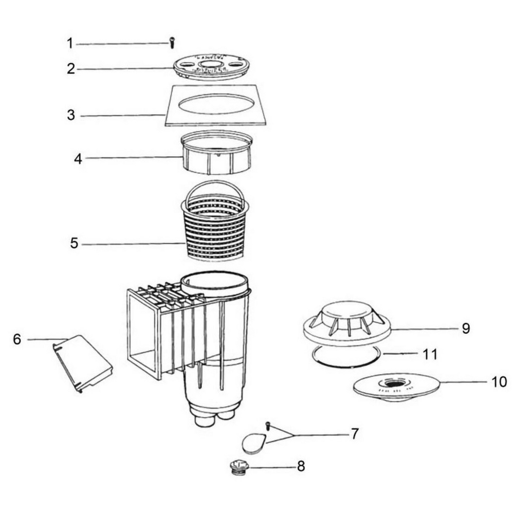 Jacuzzi Deckmate Deckmate: Gunite Skimmer image