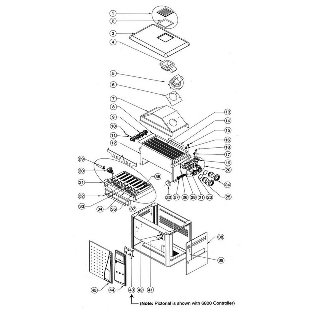Pentair Heater MiniMax NT Series MiniMax NT STD: w/6800 Controller image