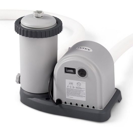 Intex - Krystal Clear Cartridge Filter Pump for Above Ground Pool up to 1,500 Gallons - 40009