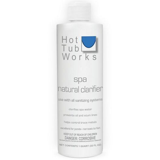 Hot Tub Works  Spa Natural Clarifier Non-Toxic Flocculent  32oz